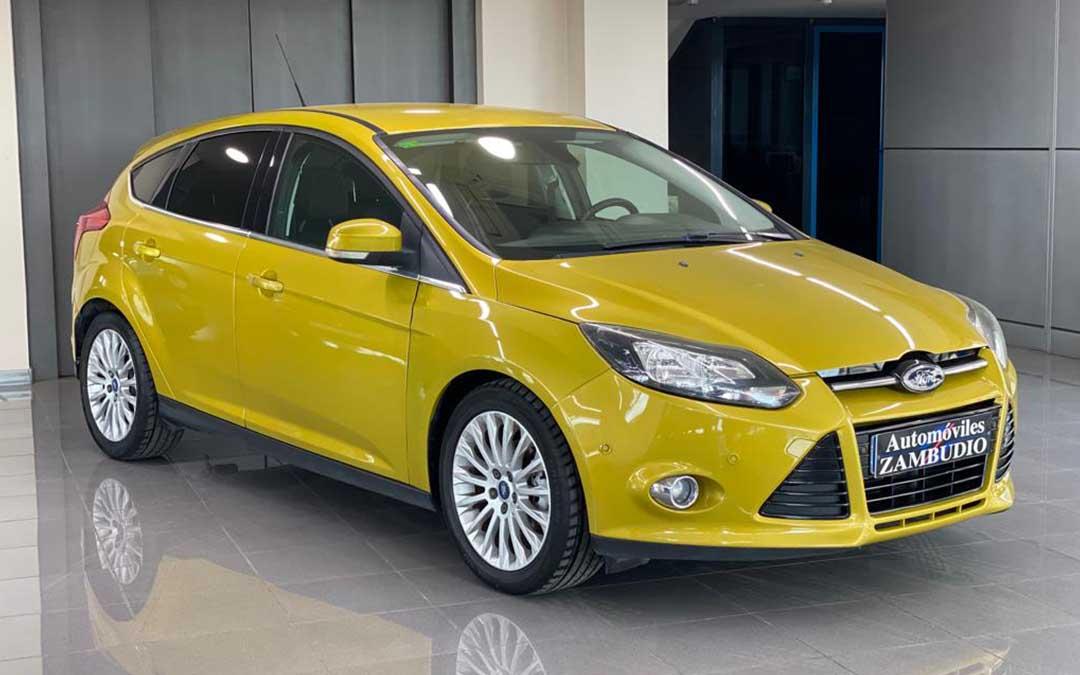 automoviles zambudio ford focus 1.6 tdci titanium amarillo 01